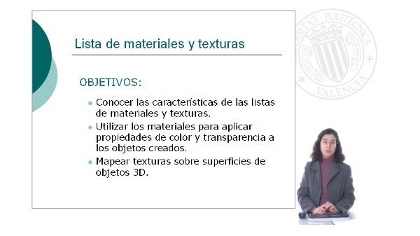 Listas de materiales y texturas