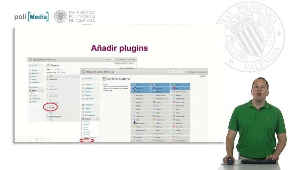 Añadir plugins en Poliblogs