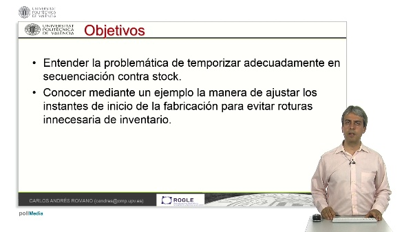 Secuenciación y temporización temprana en sistemas de fabricación contra stock
