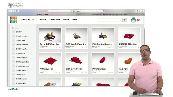 TinkerCAD. Diseños publicados
