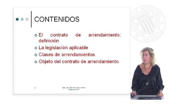 El contrato de arrendamiento