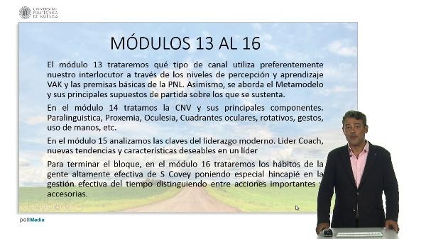 Coaching: Módulos 13 a 16