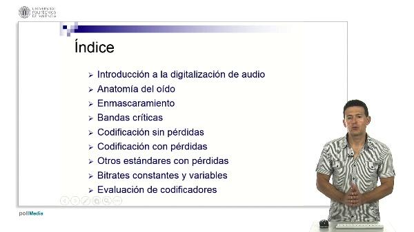 Codificación de audio: Estructura del curso