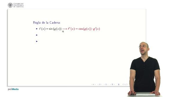 Derivadas de funciones trigonometricas con regla de la cadena