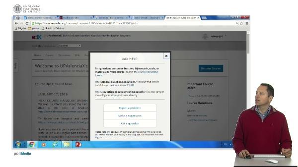 EdX course interface