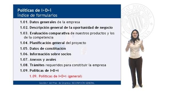 Formulario de I+D+i