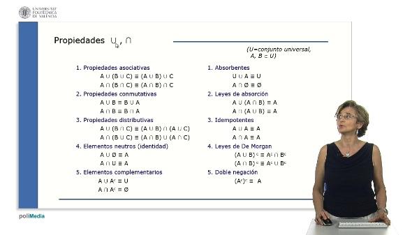 Simplificación de expresiones en teoría de conjuntos