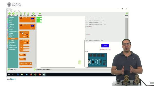 Facilino. Instrucciones para el seguimiento de líneas con Robots DYOR con sensor TCRT5000
