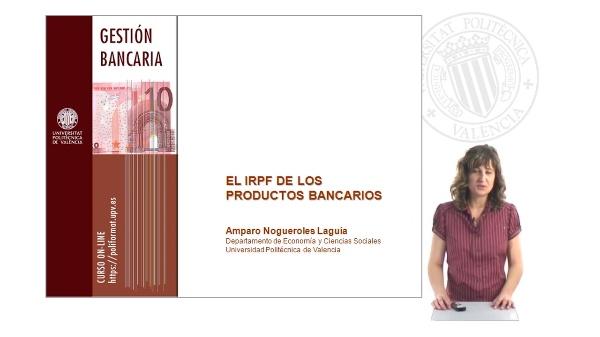 El IRPF de los productos bancarios