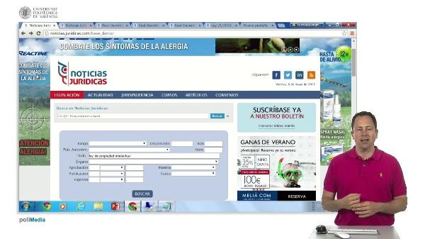 Busqueda de legislacion en Espa?a
