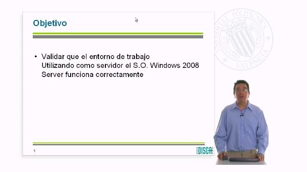 Validación del entorno de prácticas con el S.O. Windows Server 2008 (RAL código 5862)