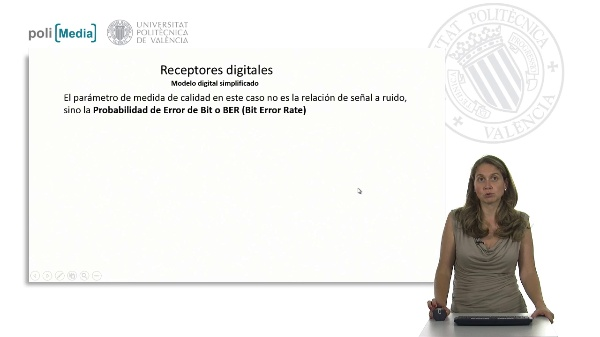 Cálculo de la sensibilidad de un receptor. Modelo digital simplificado