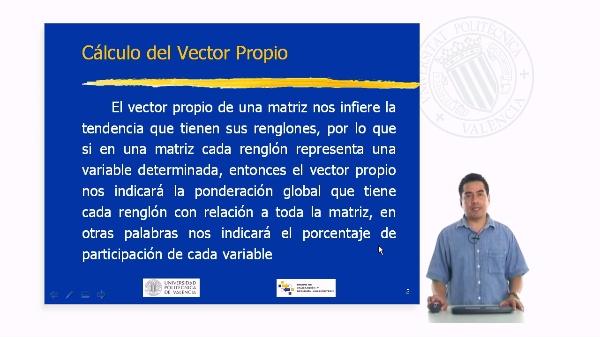 Cálculo del Vector Propio