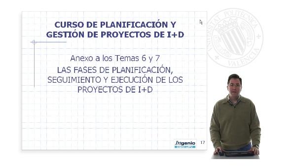 Anexo Temas 6 y 7. Las fases de planificación seguimiento y ejecución de los proyectos de I+D (parte2)