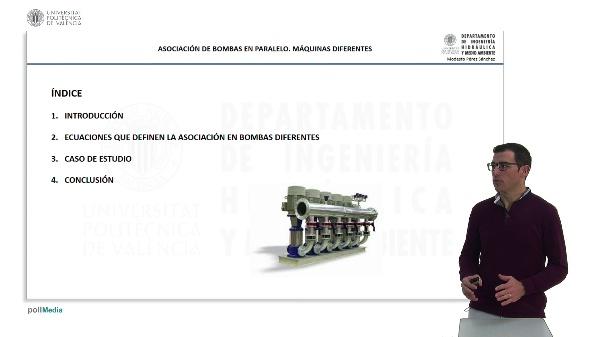 Asociación de bombas en paralelo: máquinas diferentes