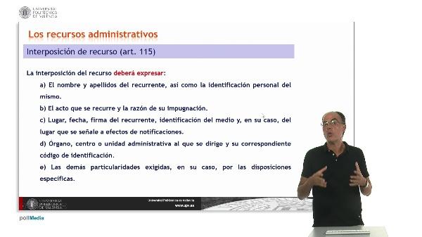 Unidad 10. La revisión de los actos administrativos y el sistema de recursos III.