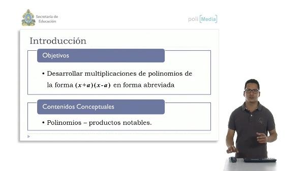 Productos de la forma (x+a) (x-a)