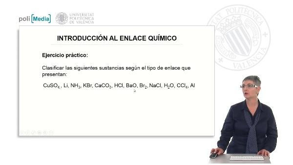 Introducción al enlace químico (ejercicio práctico)