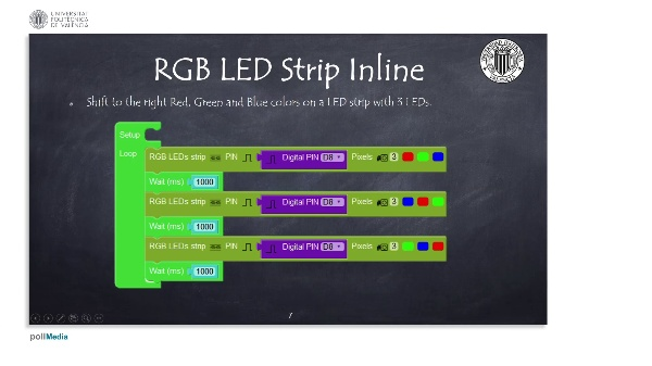 Programming Example: RGB LED strips inline