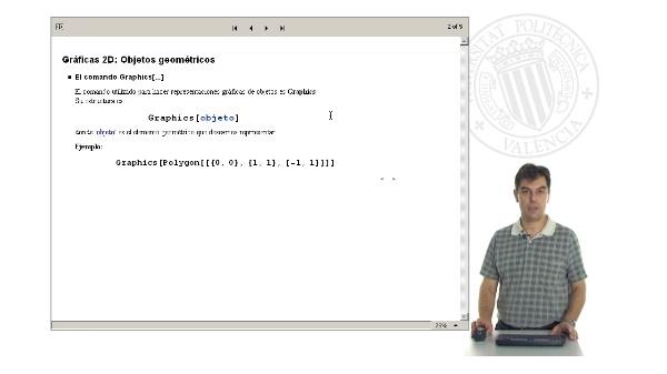 Gráficas 2D. Objetos geométricos con Mathematica