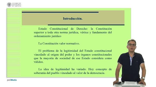 Unidad didactica 4 de la asignatura Derecho Constitucional. Introduccion