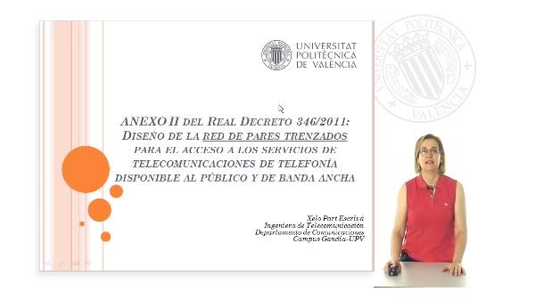 Diseño de la red de cable de pares trenzados según el Anexo II del Real Decreto 346/2011