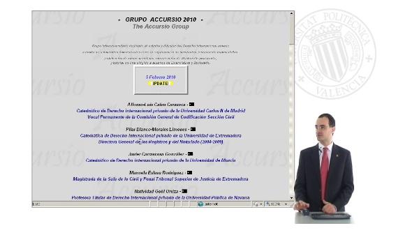 Presentación de la pagina web ACCURSIO 2010