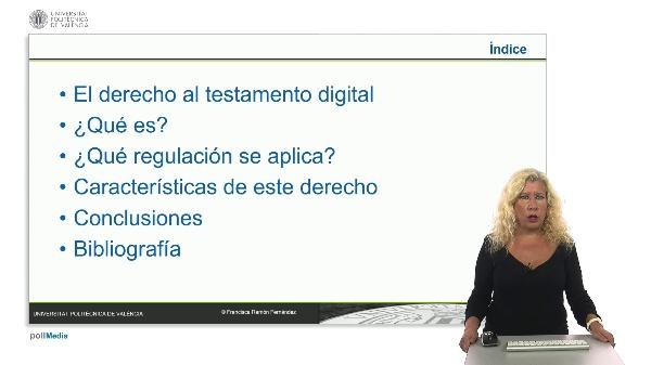 El derecho al testamento digital.