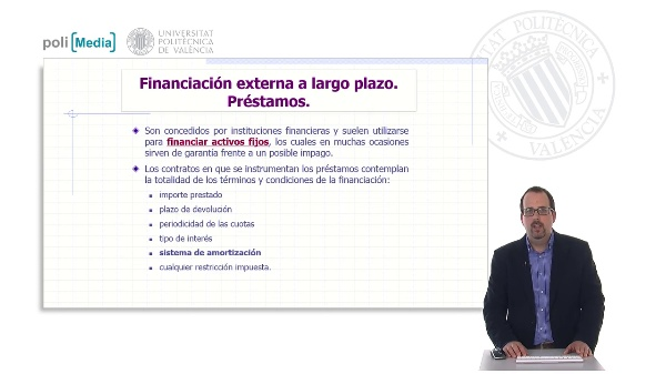 Financiación externa a largo plazo. Préstamos. Planteamiento del cálculo de la TAE