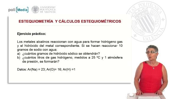 Estequiometría y cálculos estequiométricos (ejercicio práctico)