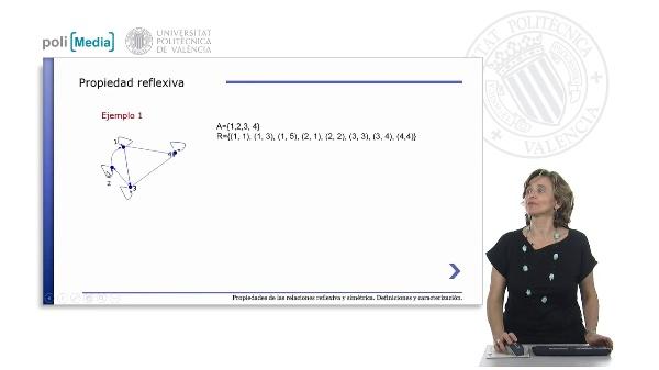 Propiedades reflexiva y simétrica de relaciones binarias. Definiciones y caracterización