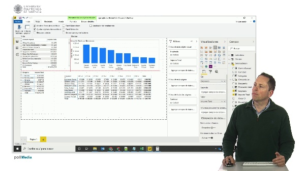 MOOC Power BI. Visualizaciones. Opciones de formato de canvas