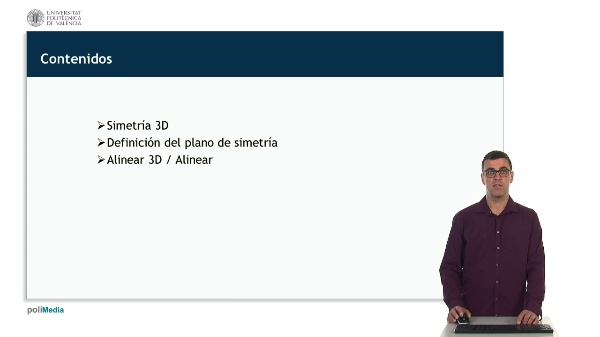 Edicion de objetos 2D en AutoCAD: Simetria 3D y Alinear 3D