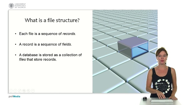 Databases, Files and Datawarehousing: File structures for databases