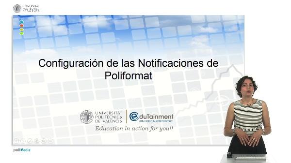 Configuración de las notificaciones en poliformat