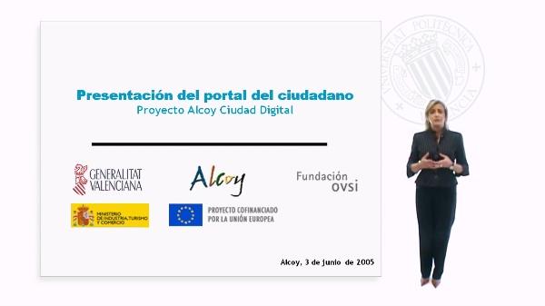Presentación del Portal del Ciudadano - Proyecto Alcoy Ciudad Digital