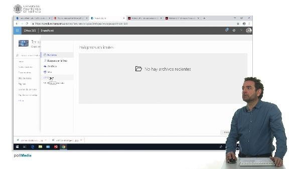 Crear una página web en el sitio SharePoint