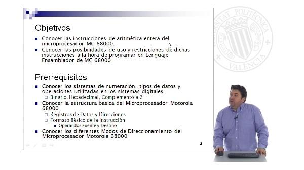 Instrucciones de Aritmética Entera del Microprocesador Motorola 68000