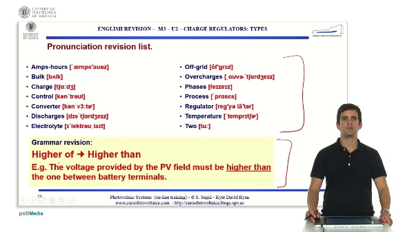 M3.U2.4. Charge regulators: types. English Grammar / spelling revision
