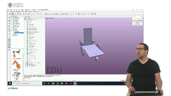 CoppeliaSim (V-REP): Creando robot DYOR (Paso 4).