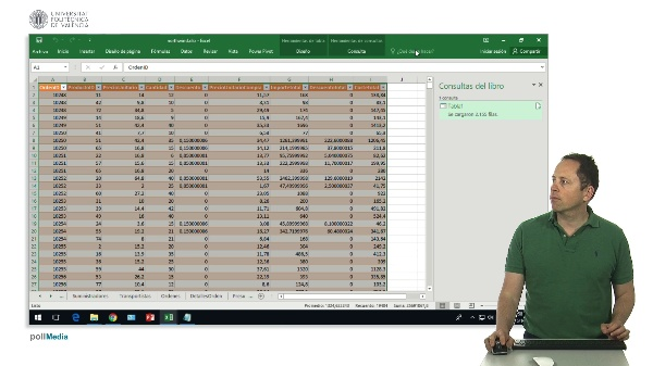 Excel Power Query. Combinar datos de consultas distintas