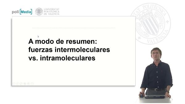 A modo de resumen: fuerzas intermoleculares vs. intramoleculares