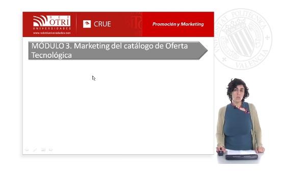Marketing del catálogo de oferta tecnológica