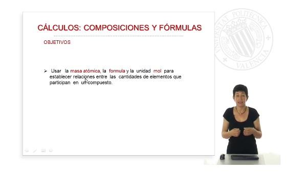 Cálculos químicos. Composiciones y fórmulas.