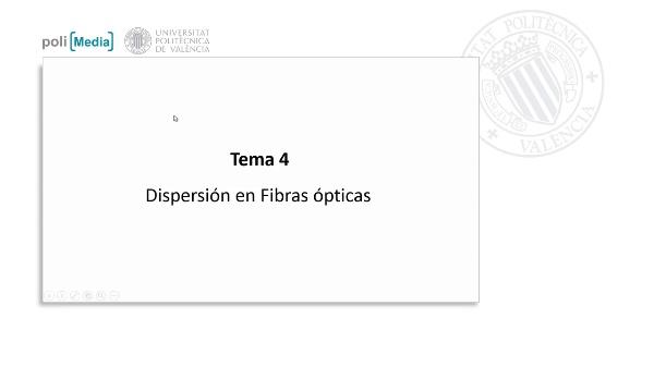 Dispersión en Fibras Ópticas