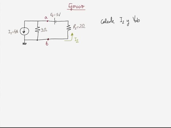 Teoría de Circuitos 1. Lección 3. 7.1.2 Análisis de mallas generador corriente en paralelo con resistencia ejercicio 1