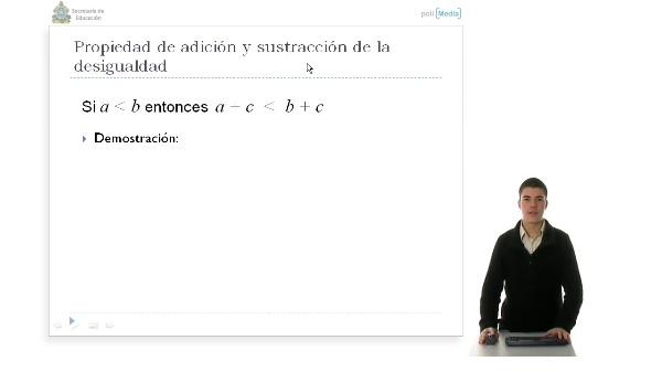 Bloque 2. Álgebra, Propiedad 1 de adición y sustracción de las inecuaciones