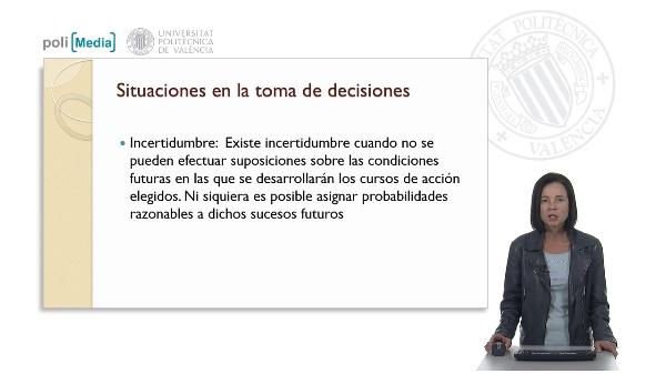 Toma de decisiones en situaciones de incertidumbre