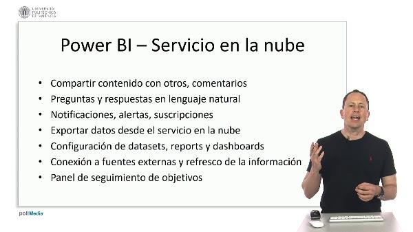 MOOC Power BI. Índice módulo colaboración servicio en la nube
