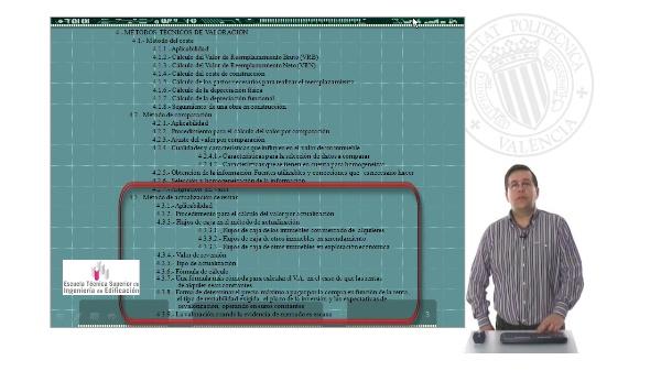 Sesión 3. Métodos técnicos de valoración II